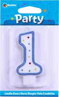 1 Multi-Colour Polka Dot Candle