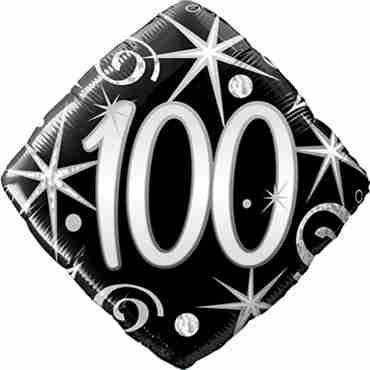 100 Elegant Sparkles and Swirls Foil Diamond 18in/45cm