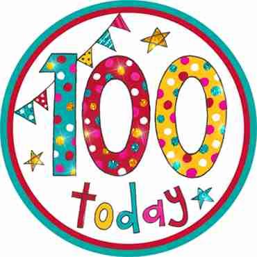 100 Happy Birthday Badge