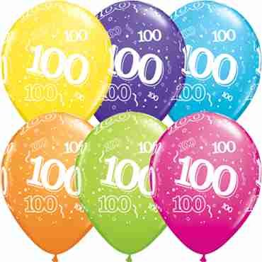 100 Tropical Assortment Latex Round 11in/27.5cm