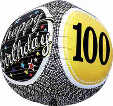 100th Birthday Milestone Sphere 17in/43cm