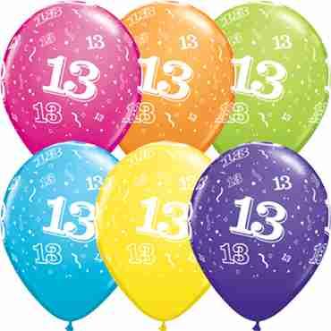 13 Retail Assortment Latex Round 11in/27.5cm