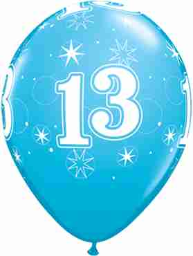 13 Sparkle Fashion Robins Egg Blue Latex Round 11in/27.5cm