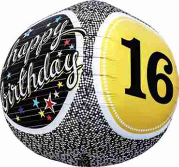16th Birthday Milestone Sphere 17in/43cm