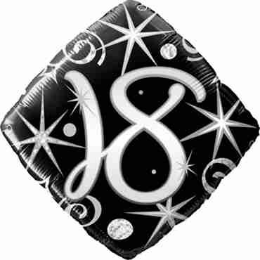 18 Elegant Sparkles and Swirls Foil Diamond 18in/45cm