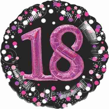 18 Pink Celebration Multi Foil Round 32in/81cm