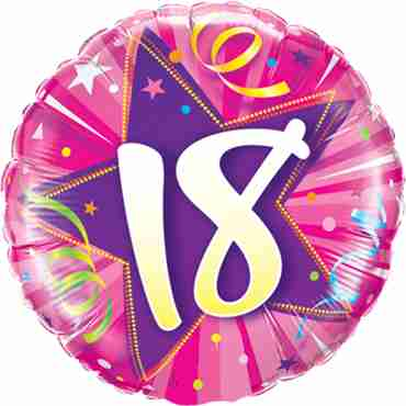 18 Shining Star Hot Pink Foil Round 18in/45cm