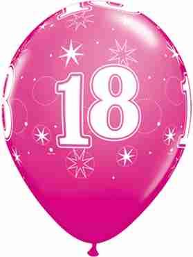 18 Sparkle Fashion Wild Berry Latex Round 11in/27.5cm