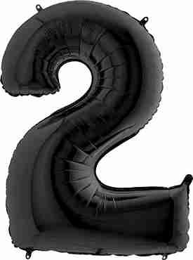 2 Black Foil Number 26in/66cm