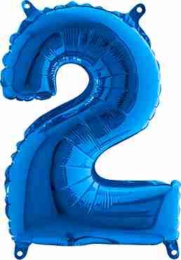 2 Blue Foil Number 26in/66cm