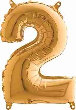 2 Gold Foil Number 26in/66cm