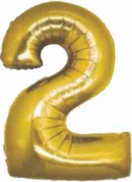 2 Gold Foil Number 8in/20cm