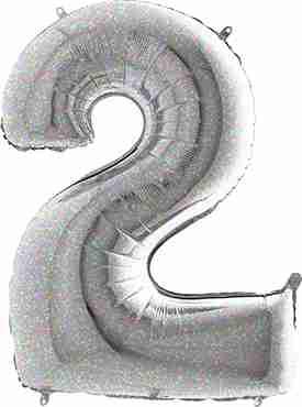 2 Holographic Foil Number 26in/66cm