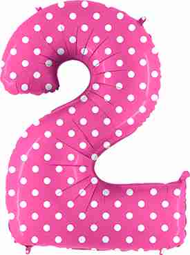 2 Pois Fuchsia Foil Number 40in/100cm