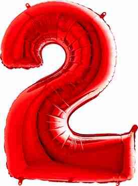 2 Red Foil Number 26in/66cm