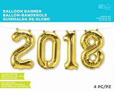 2018 Kit Gold Foil Letters 16in/40cm