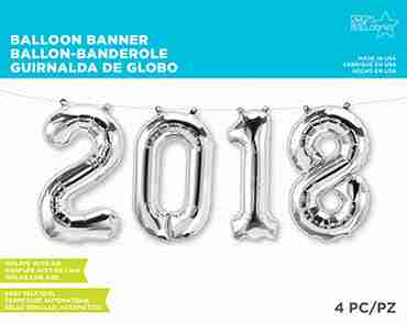 2018 Kit Silver Foil Letters 34in/86cm