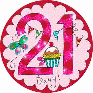 21 Perfect Pink Badge