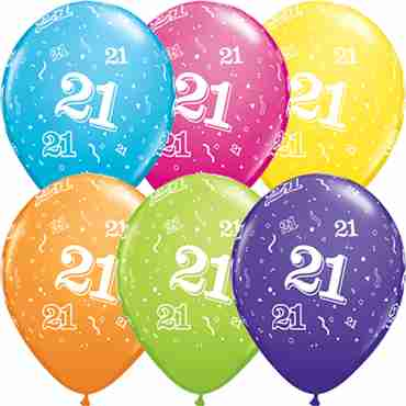 21 Retail Assortment Latex Round 11in/27.5cm
