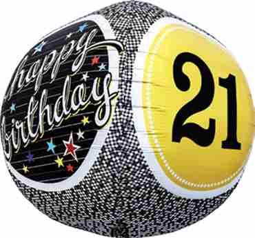 21st Birthday Milestone Sphere 17in/43cm
