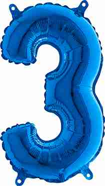 3 Blue Foil Number 26in/66cm