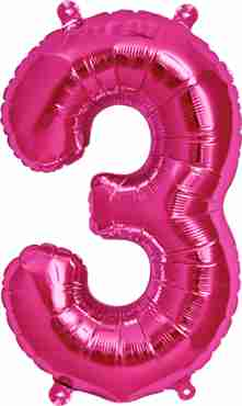 3 Magenta Foil Number 34in/86cm