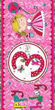 3 princess foil banner