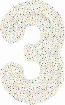 3 Sprinkles Foil Number 16in/40cm
