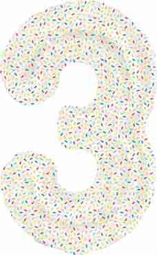 3 Sprinkles Foil Number 16in/40cm
