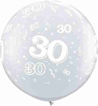 30 Crystal Diamond Clear (Transparent) Latex Round 36in/90cm