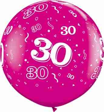 30 Fashion Wild Berry Latex Round 36in/90cm