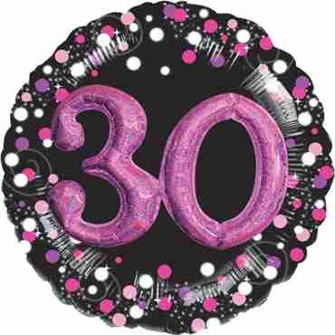 30 Pink Celebration Multi Foil Round 32in/81cm
