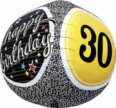 30th Birthday Milestone Sphere 17in/43cm