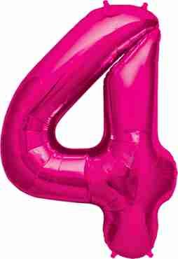 4 magenta foil number 34in/86cm