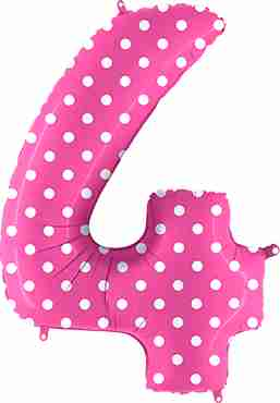 4 Pois Fuchsia Foil Number 40in/100cm
