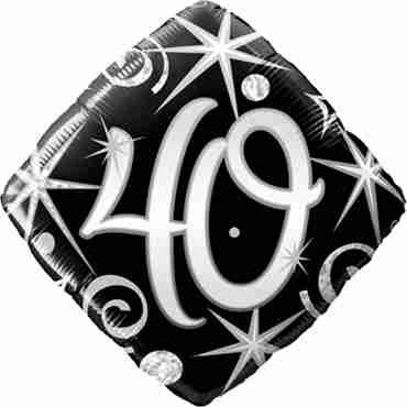 40 Elegant Sparkles and Swirls Foil Diamond 18in/45cm