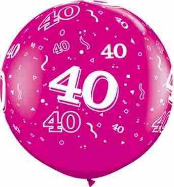 40 Fashion Wild Berry Latex Round 36in/90cm