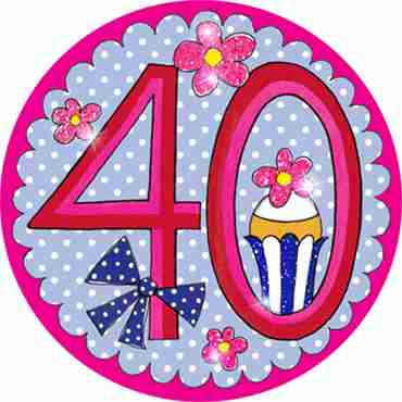 40 Perfect Pink Badge