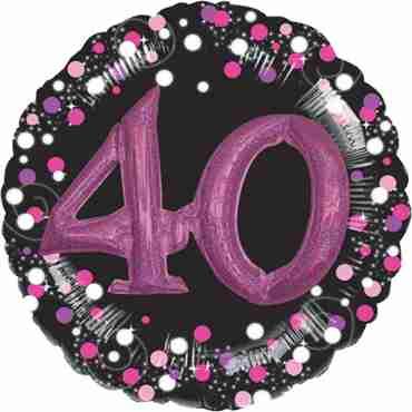 40 Pink Celebration Multi Foil Round 32in/81cm