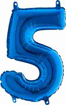 5 Blue Foil Number 26in/66cm