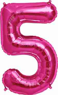 5 Magenta Foil Number 34in/86cm
