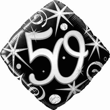 50 Elegant Sparkles and Swirls Foil Diamond 18in/45cm