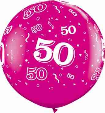 50 Fashion Wild Berry Latex Round 36in/90cm