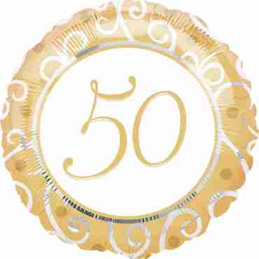 50th Anniversary Foil Round 18in/45cm