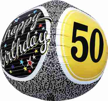 50th Birthday Milestone Sphere 17in/43cm