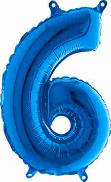 6 Blue Foil Number 26in/66cm