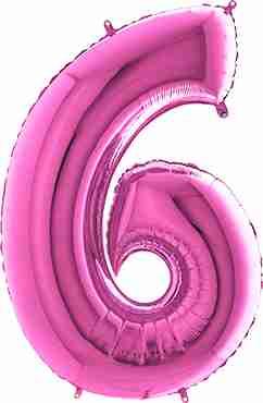 6 Fuchsia Foil Number 26in/66cm