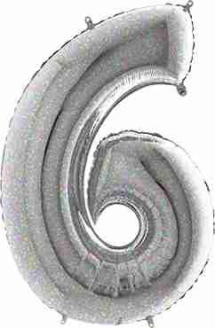 6 Holographic Foil Number 26in/66cm