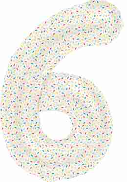 6 Sprinkles Foil Number 16in/40cm