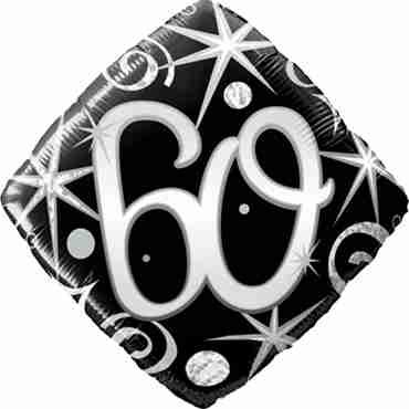 60 Elegant Sparkles and Swirls Foil Diamond 18in/45cm
